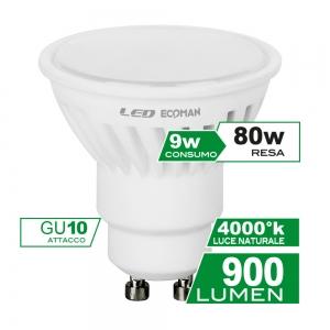 ECOMAN LED DICROICA GU10 9W 4000K NATURALE