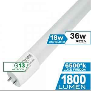 ECOMAN LED TUBO T8 120CM 18W 6500K
