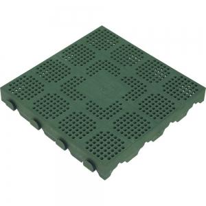 MATTONELLA PVC DRENANTE VERDE 40X40 H4,8