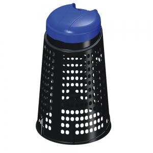 TRESPOLO ECO PLASTICA BLU-NERO 110LT
