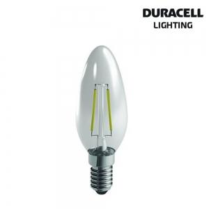 DURACELL LAMP. LED FILAMENTO OLIVA 4W E14 2700K