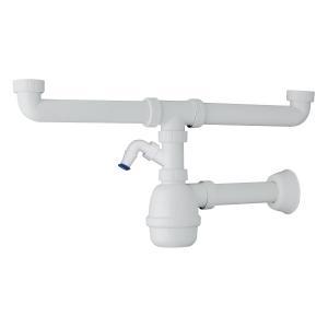 SIFONE PVC 2 VIE 1'1/2 S/PILETTA ATT. LAVATRICE