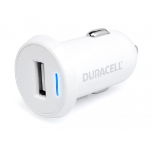 DURACELL CARICABATTERIA AUTO DR5020W 1USB 2.4A WHITE